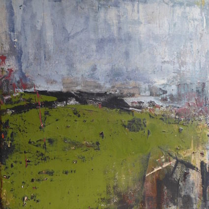 Sheltered Field - 50x50cm on board
