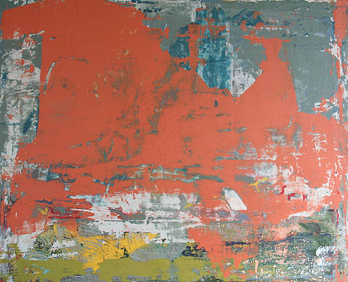 Skies of Brass 40x60cm mixed media on canvas SOLD
