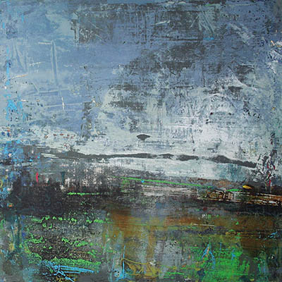 Low cloud 60x60cm mixed media on canvas SOLD