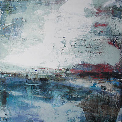 Cold Seas 60x60cm mixed media on canvas SOLD