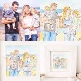 Small 10x10cm image Family portrait