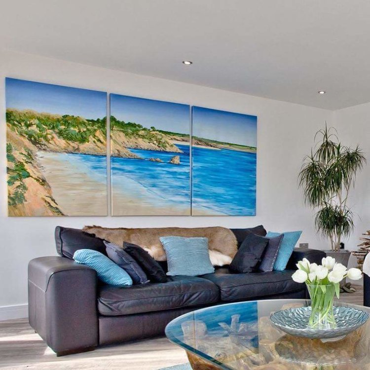 Duporth Oil Painting Triptych Commission