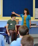 Melissa facilitating a secondary workshop