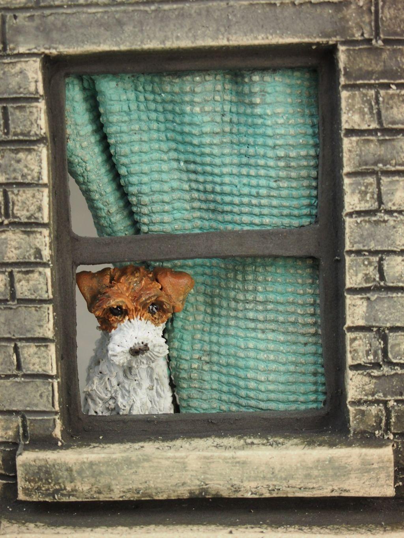 """""""Watchdog Wirey Terrier"""", detail of sculpture, 2019"""