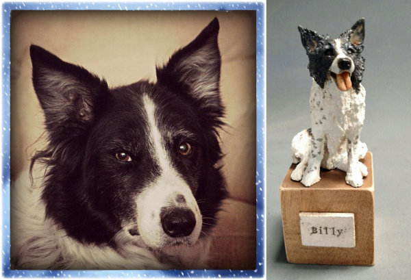 Billy Border Collie, Miniature Commission 2014