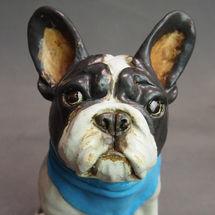 French Bulldog with Blue Neckerchief, 2017