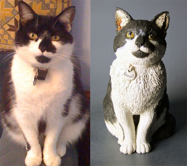 Biscuit. My first cat commission, 2012