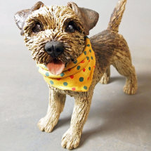Border Terrier with scarf, 2016
