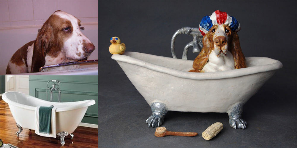 Fergus in the Bath, commission 2016