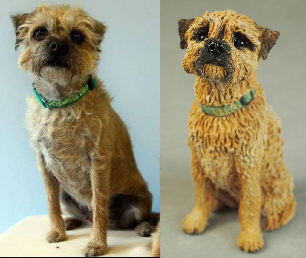 Lola Border Terrier, Miniature Commission 2018