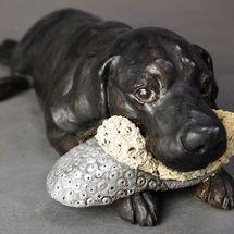 Lola Labrador & her slipper, commission 2016