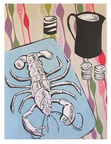 Lobster & jug still life