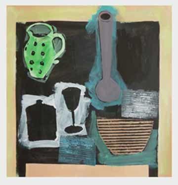 Still life with green jug