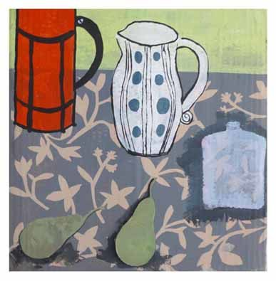 Still life with spotted jug