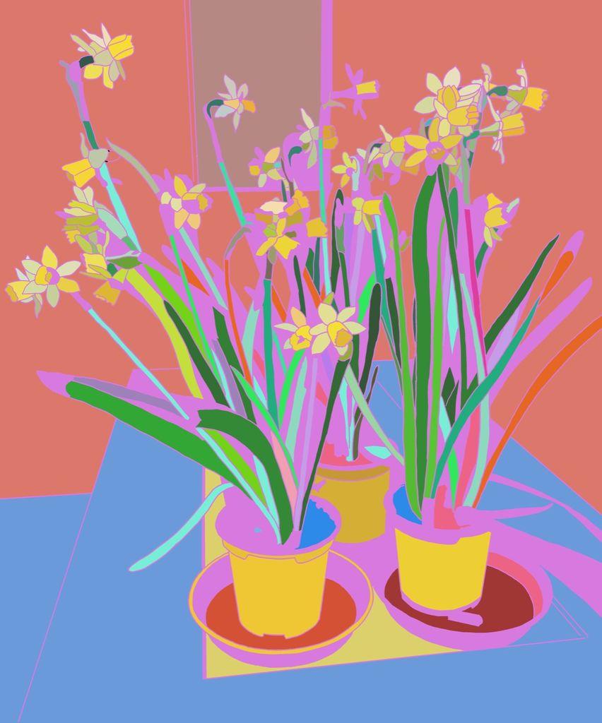 Abstract Daffodils
