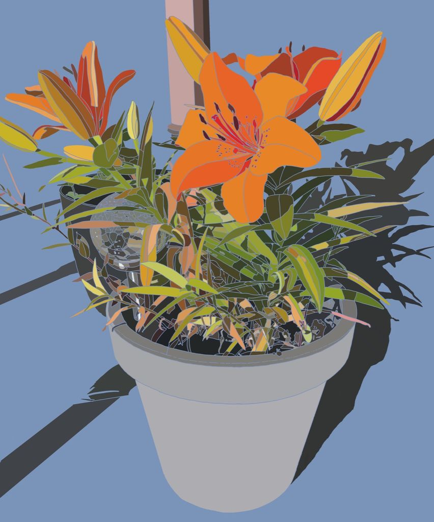 Potted Lilies