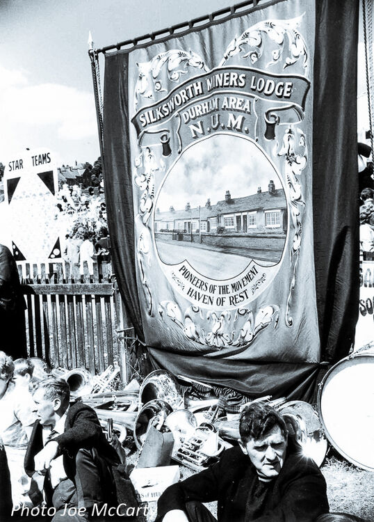 Durham Miners Gala 3 Silksworth Banner