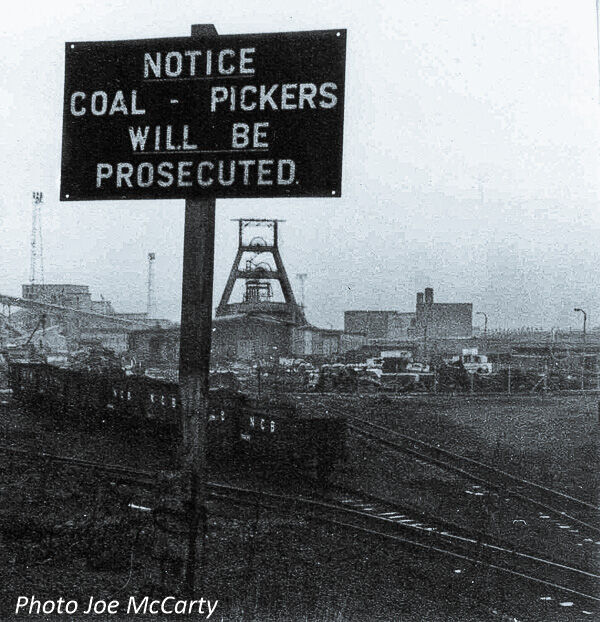 Bates Colliery Coal Picking Notice