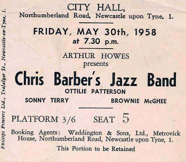 C Barber S Terry B McGhee 1958