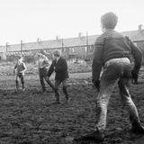 Bedlngton young footballers in the shadow of the pit