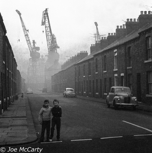 Blyth young footballers in the shadow of the shipyard