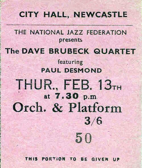 Dave Brubeck Quartet 1958?