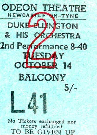 Duke Ellington 1958 (Odeon Newcastle)