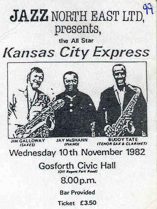 Kansas City Jay McShann (Gosforth Civic Hall)