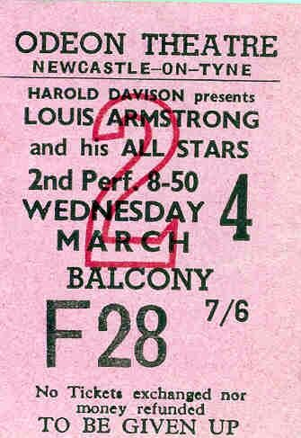 Louis Armstrong 1959 (Odeon Newcastle)