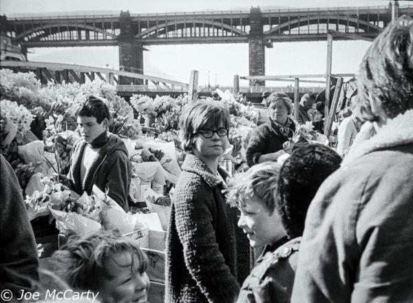 Newcastle Quayside Market Flower Stall