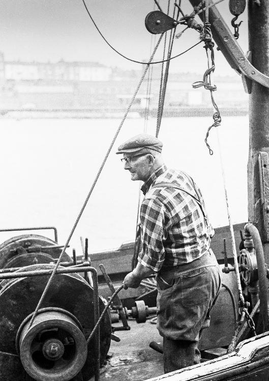 North Shields Fish Quay winchman