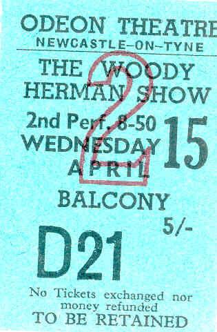 Woody Herman  1959 (Odeon Newcastle)