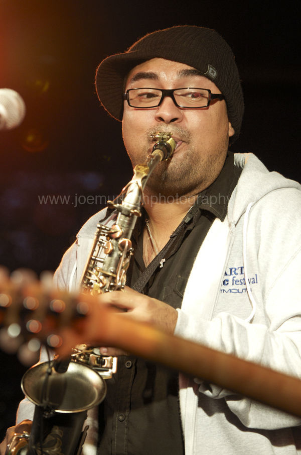 Sax player with Hamilton Loomis