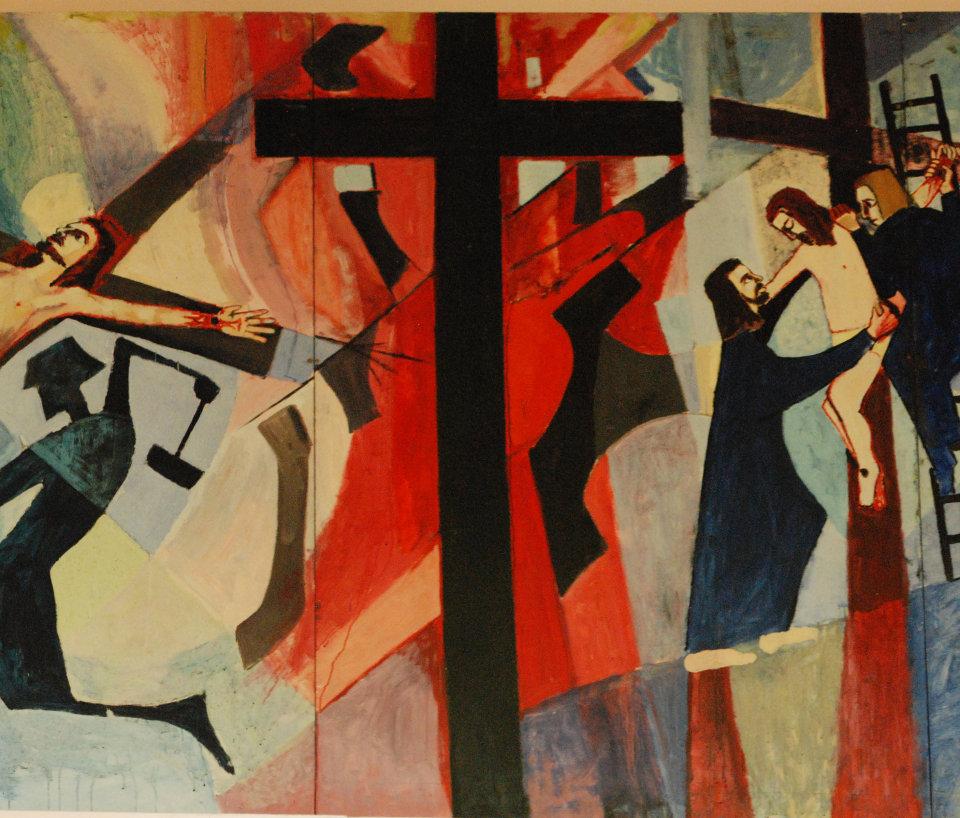 """Detail """"Jesus Dies on the Cross"""""""