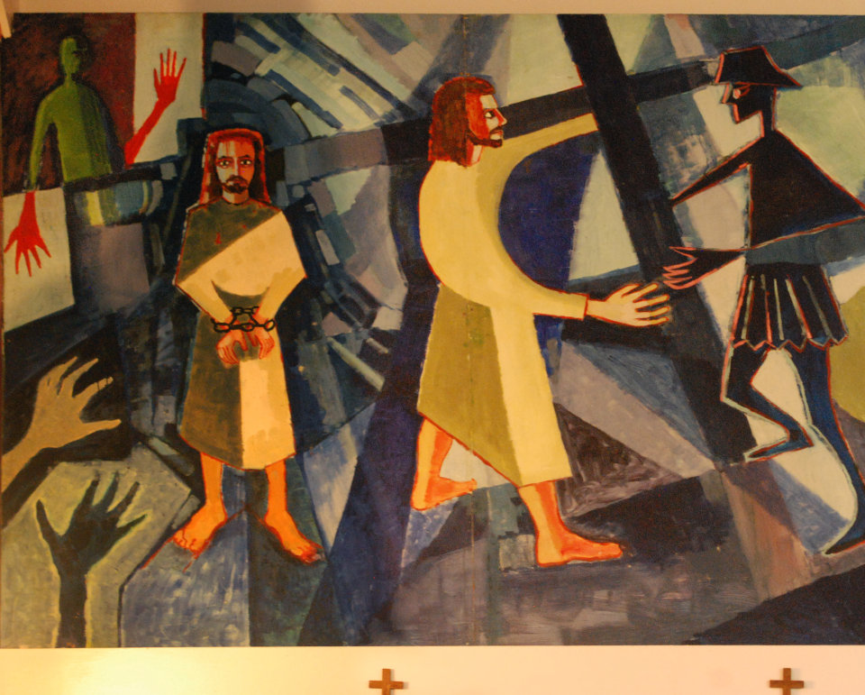 1st and 2nd Stations; Jesus is condemned to Death and Jesus Carries his Cross