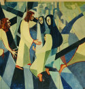 "Detail ""Jesus Meets the Women of Jerusalem"""