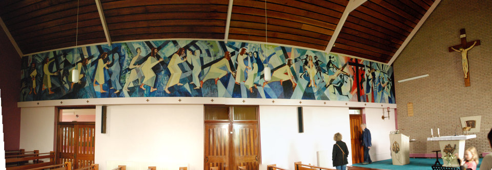 Panorama shot of Stations of the Cross, St Marys Ballinderry, Aghagallon.