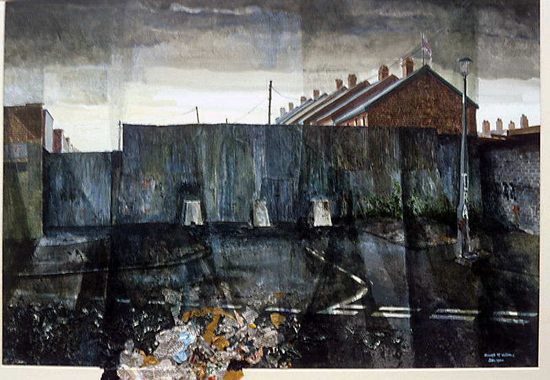 "Peace line, Ardoyne"" Mixed Media 1980"