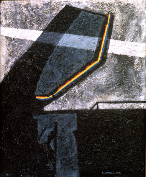 Rendezvous with a Rainbow 1, <br> mixed 60ins x 48ins  1976