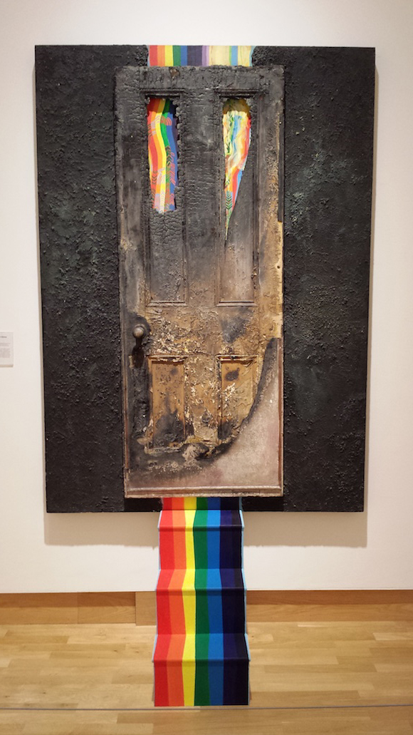 """Community Door 2"" mixed media, 1977, currently on View at Ulster Museum, ""Art of the troubles"""