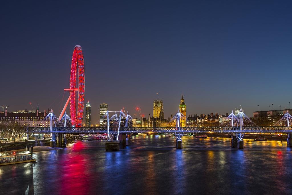 London Eye, Houses of Parliament, London, UK