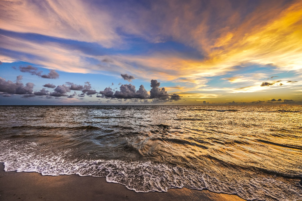 Naples, Florida, sunset on beach