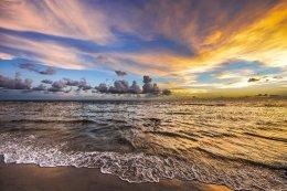 Naples, Florida, sunset on beach