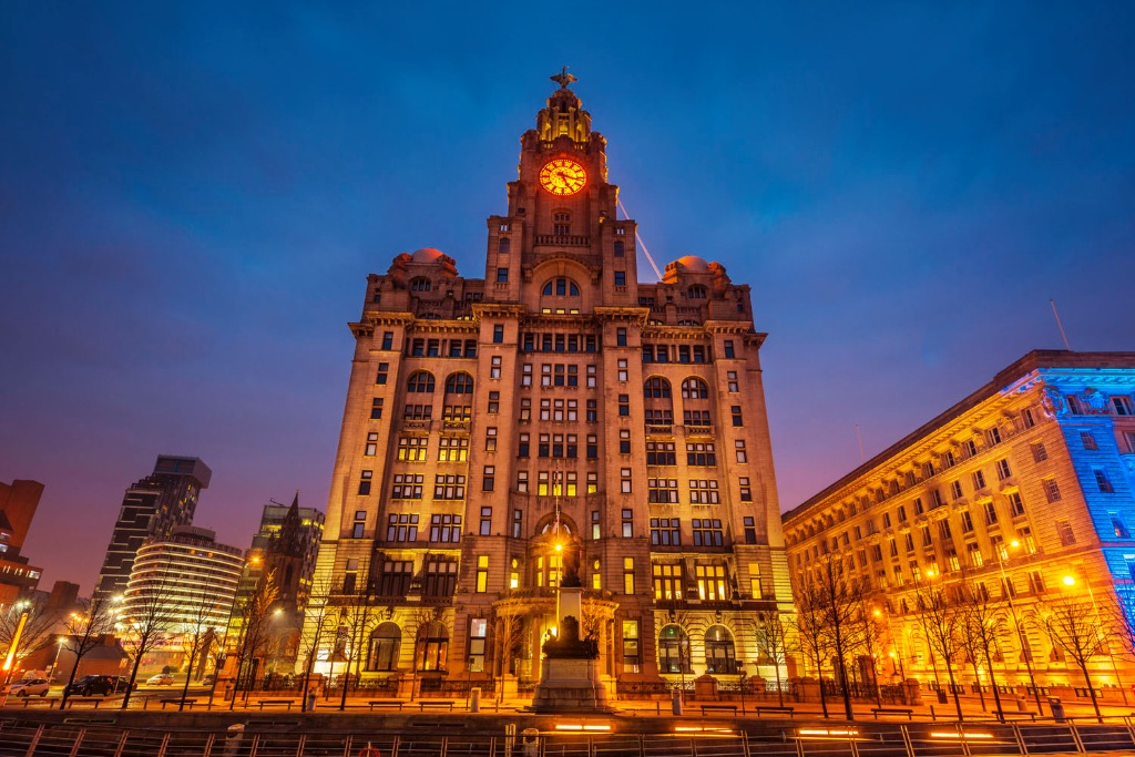 Royal Liver Building, Waterfront, Liverpool, England, UK