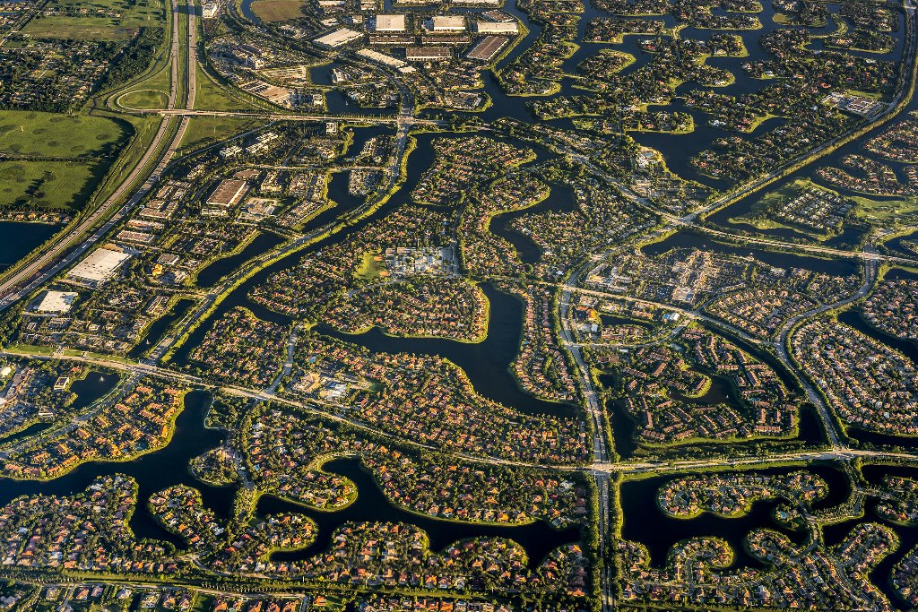 florida houses,aerial view