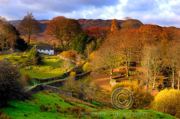 old farm house during autumn