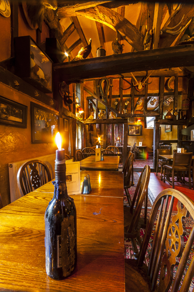old English pub interior