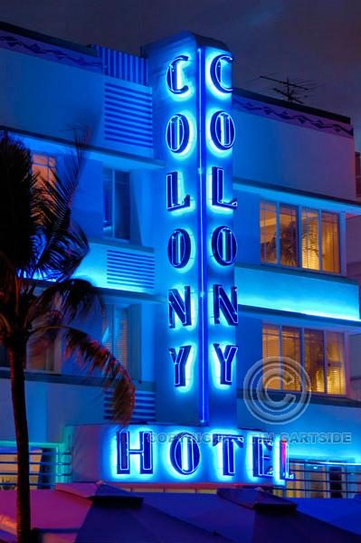 Colony Hotel, Ocean Drive, South Beach, Miami, USA