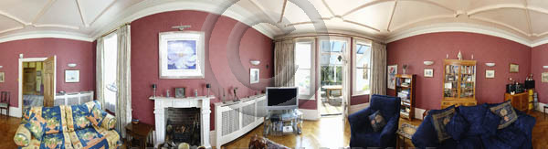 panoramic reception room