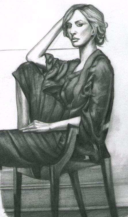 Girl in chair A4